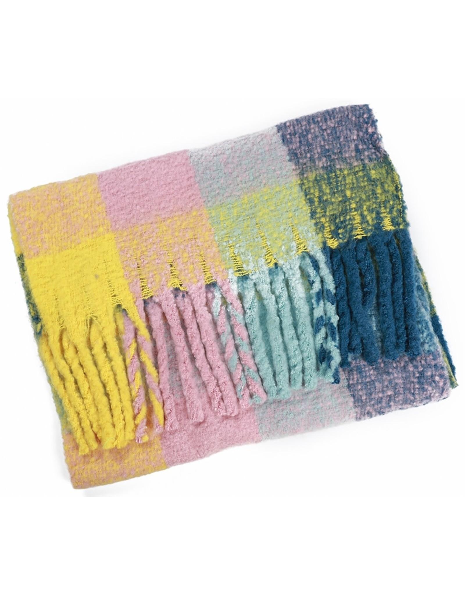 Sjaal geruit pastel