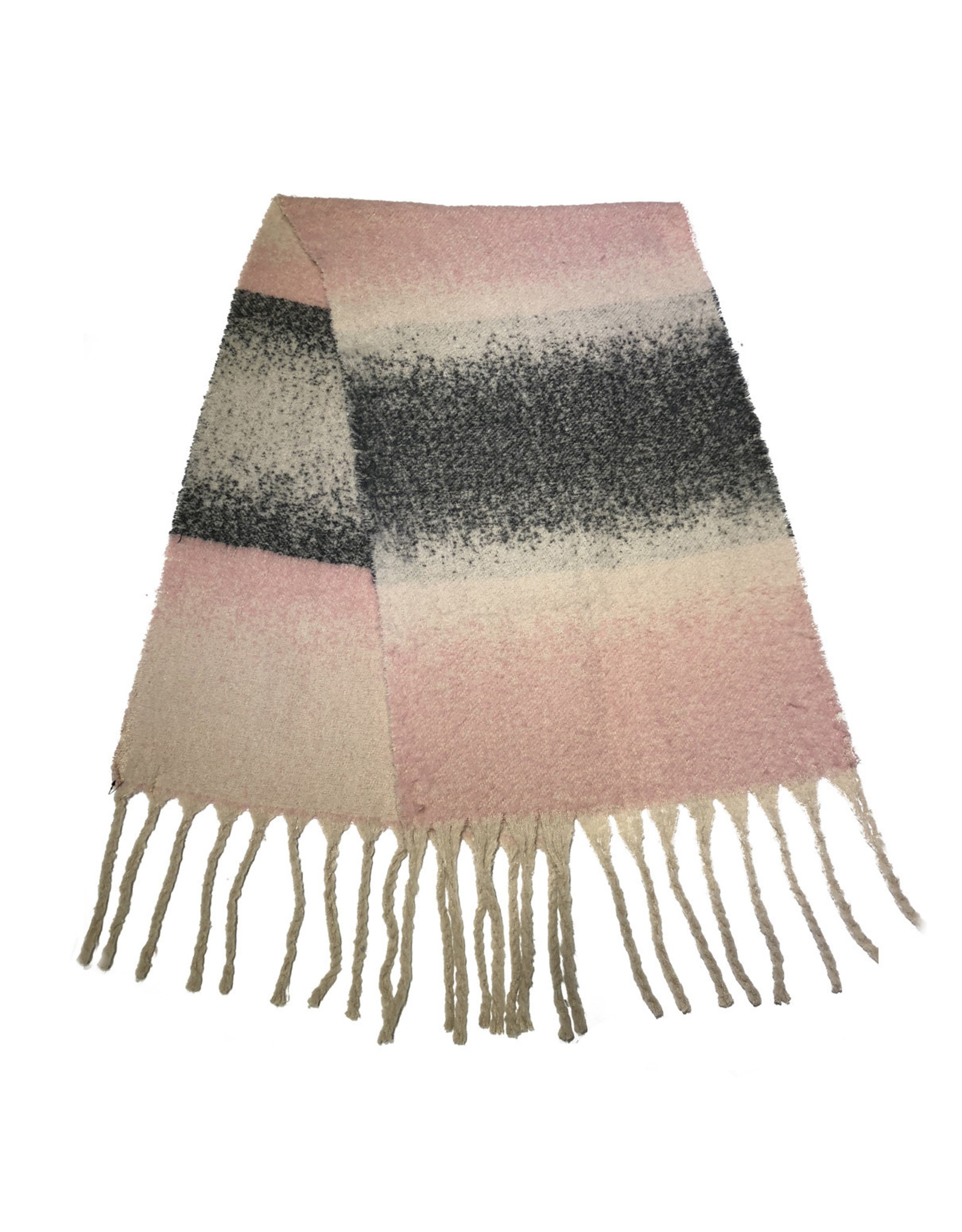 Sjaal roze/grijs