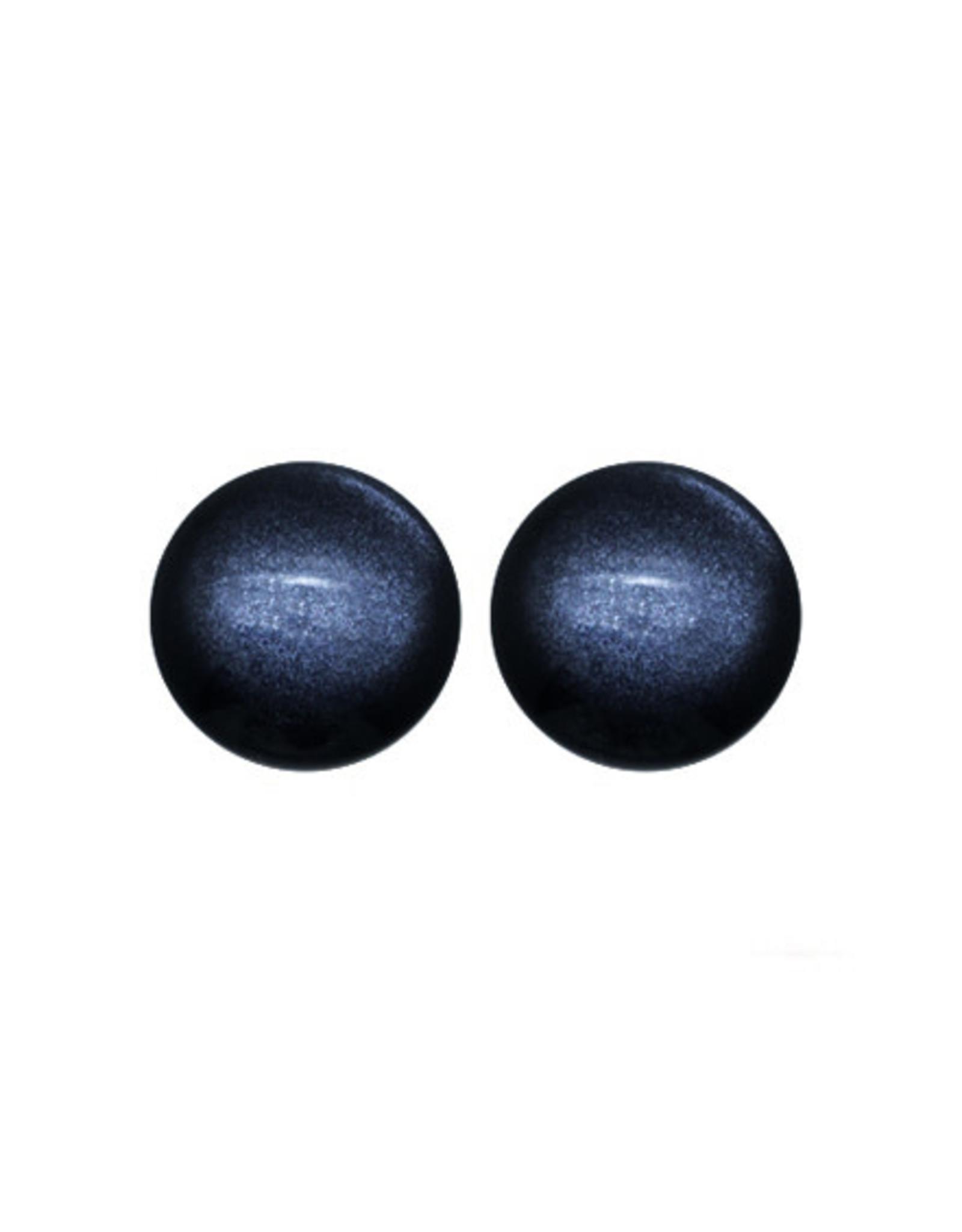 oorbEllen stekers 12mm bol grijsblauw glans