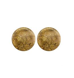 oorbEllen stekers 12mm plat swirl beige