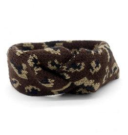 Haarband luipaard bruin