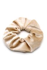Scrunchie velvet beige