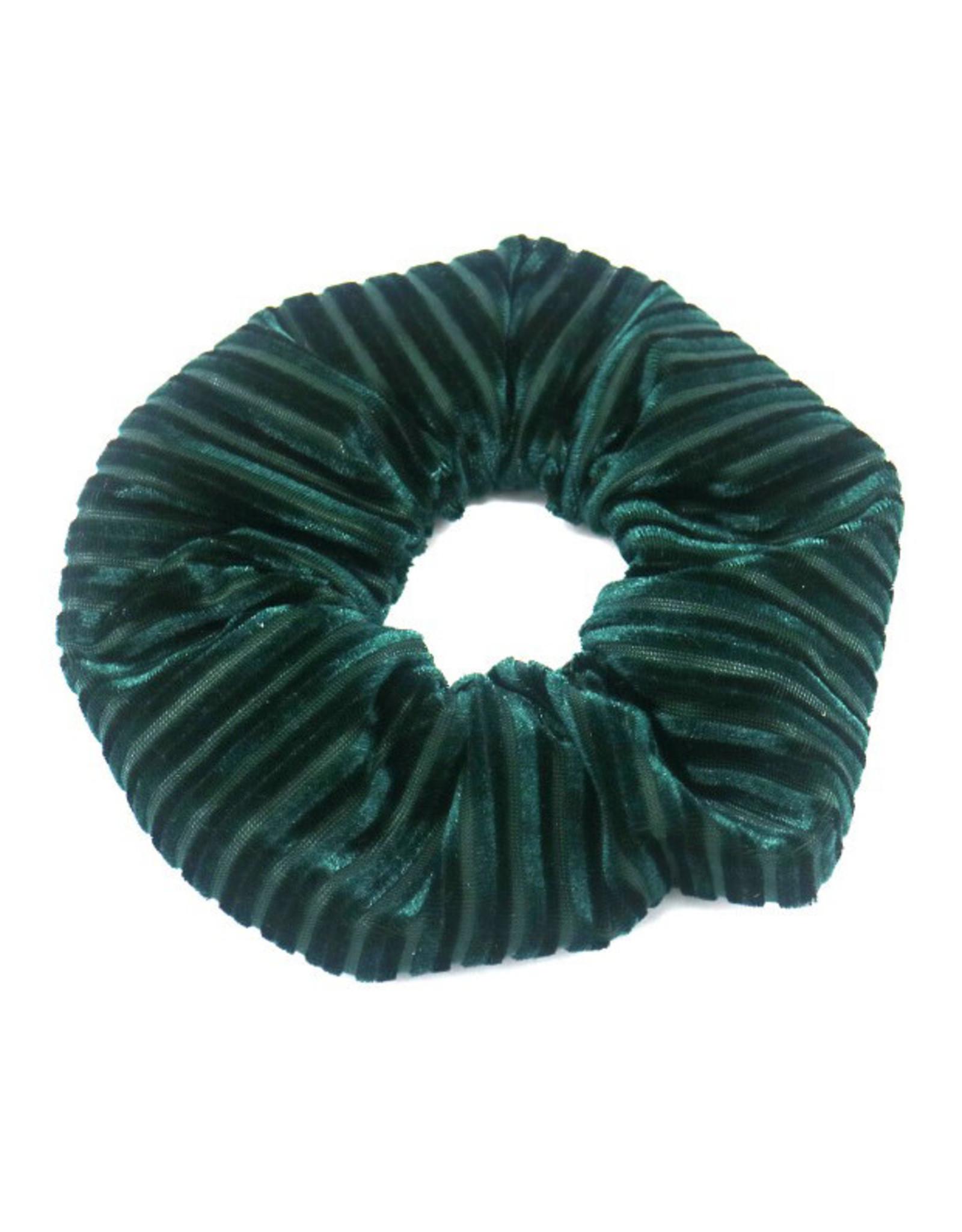 Scrunchie velvet ribbels groen