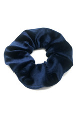 Scrunchie velvet marineblauw