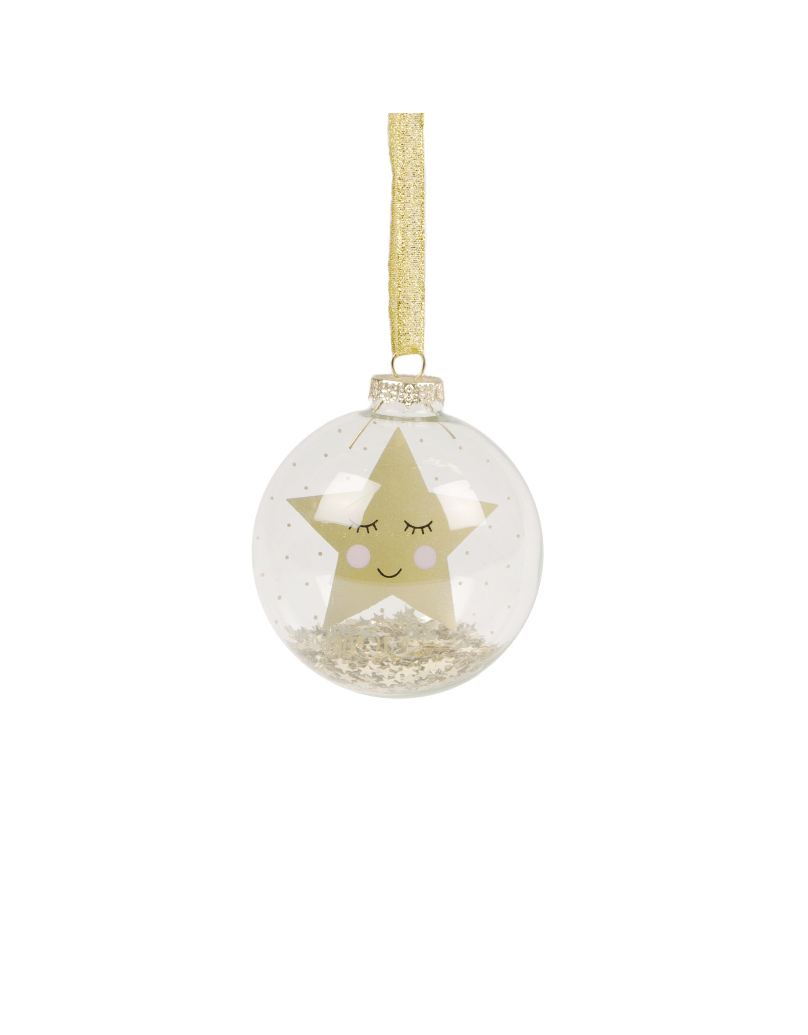 Kerstbal glas ster