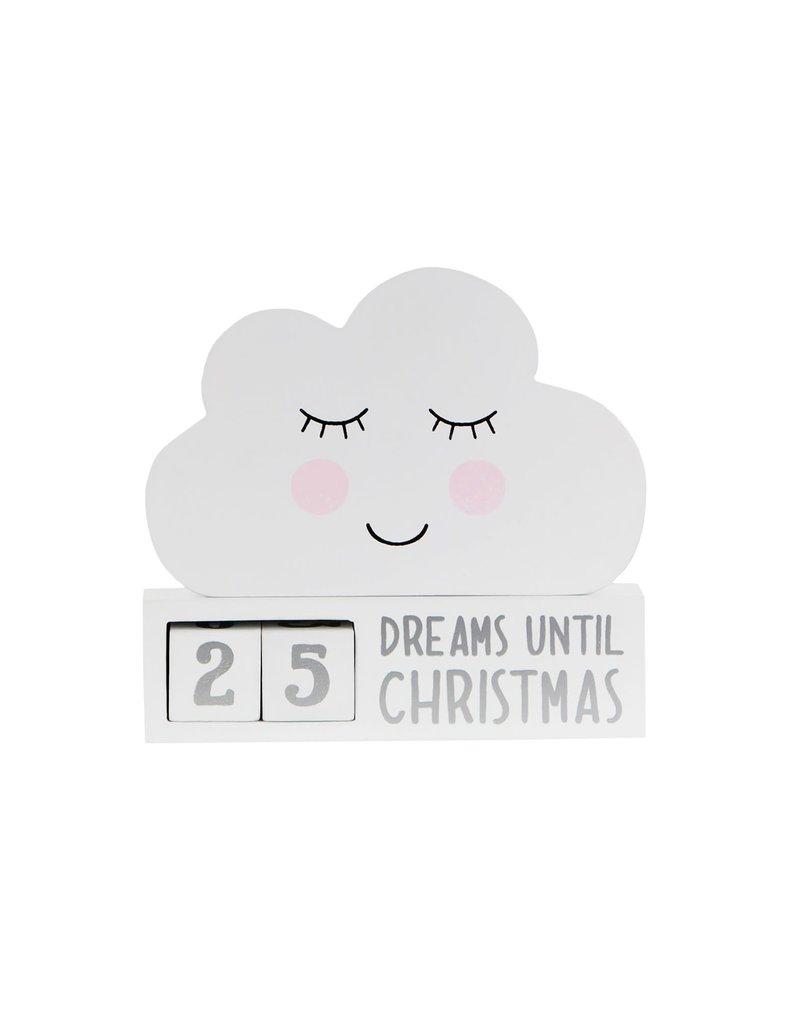 Aftelkalender Kerstmis wolk