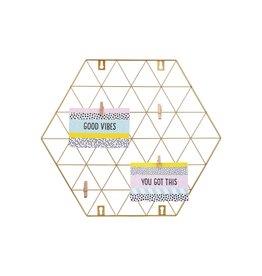 Kaartenhouder grid zeshoek