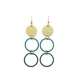 Mix&match hangers cirkels klein petrol donkergroen