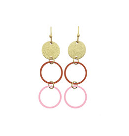 Mix&match hangers cirkels klein roze roest