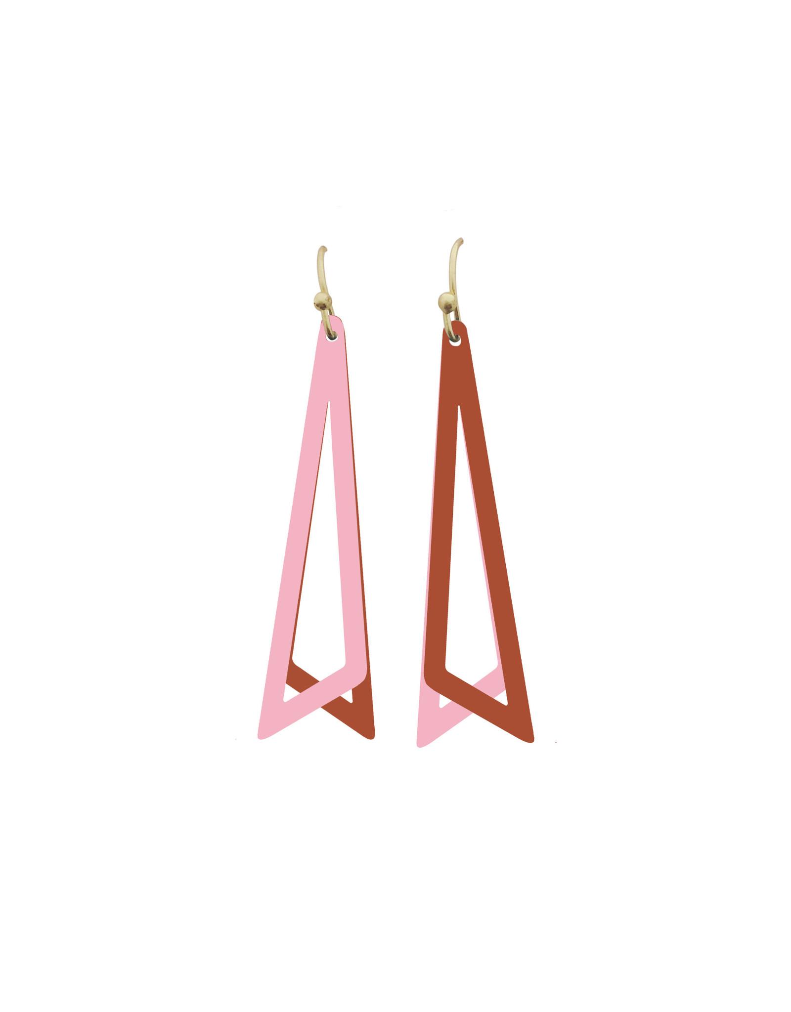 Mix&match driehoeken roze roest