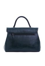 Handtas handvat zwart met lange riem
