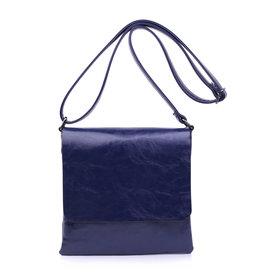 Handtas plat blauw