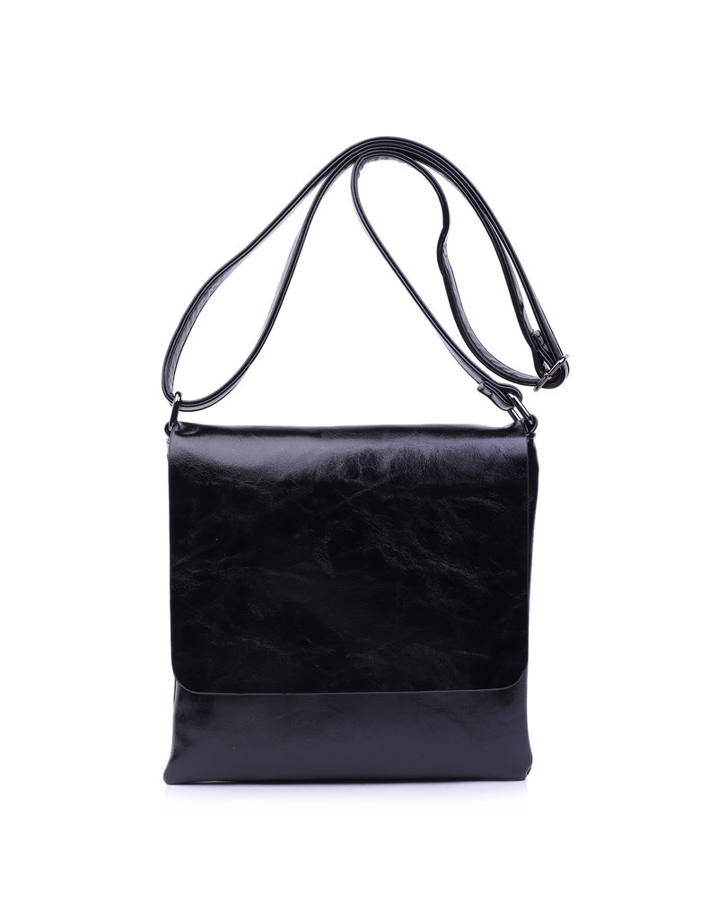 Handtas plat zwart