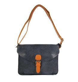 Handtas gesp zwartblauw