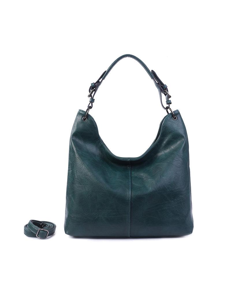 Handtas baggy XL petrol