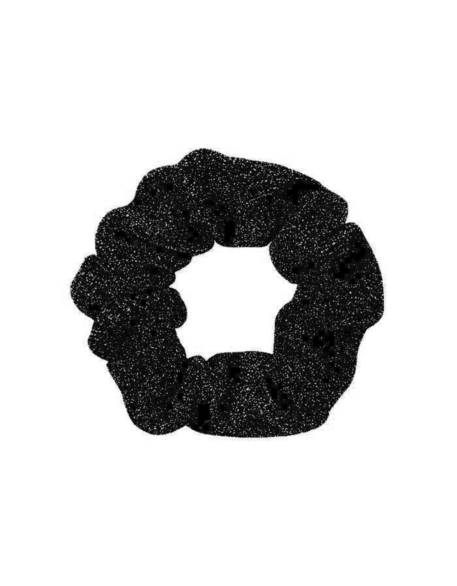 Scrunchie glitter zwart