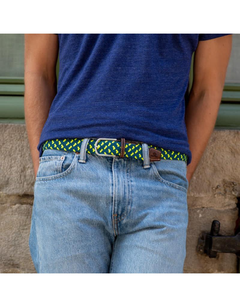 BB: Riem zigzag blauw/fel groen T1