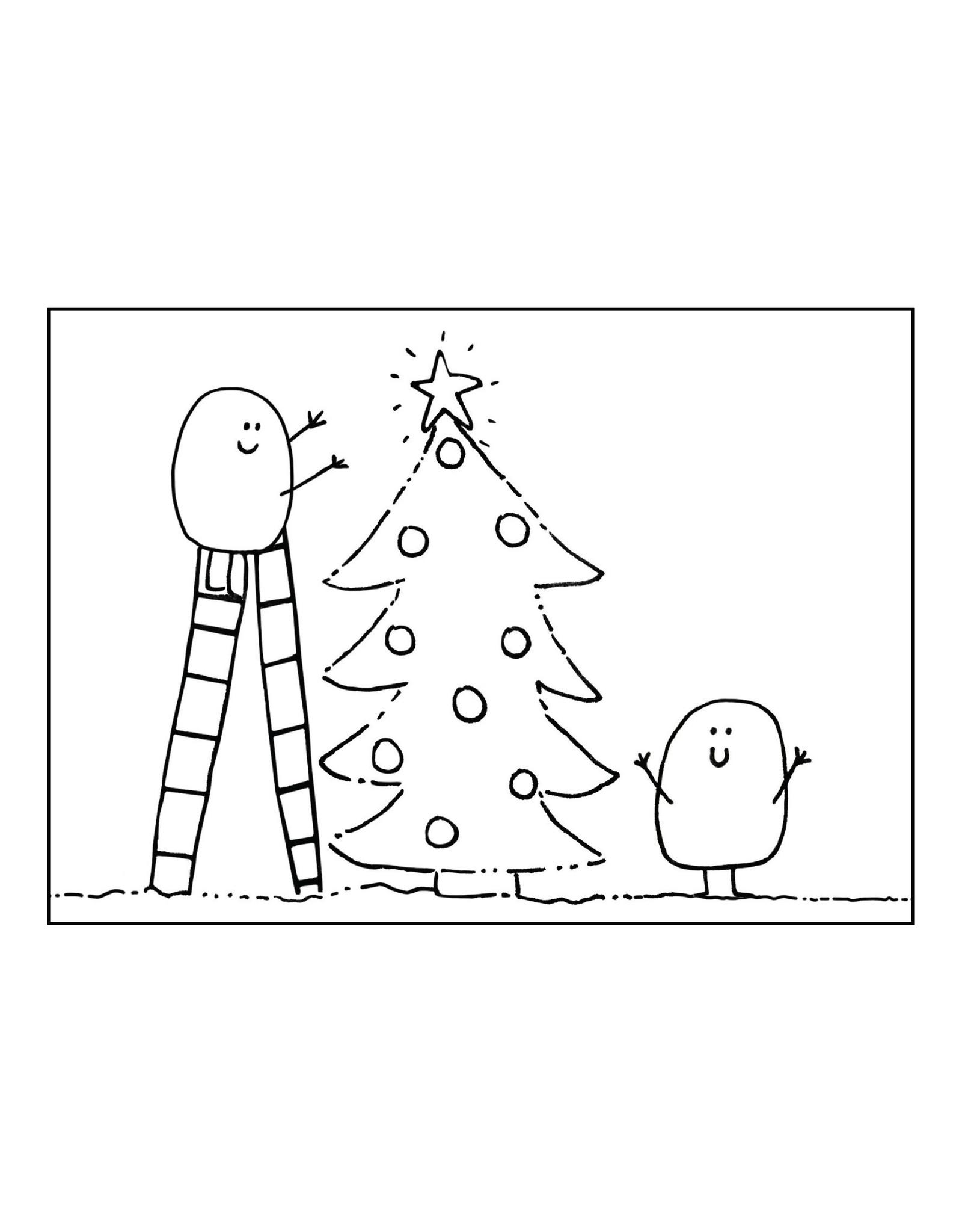 Postkaart Blopje Kerstboom