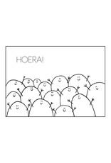 Postkaart Blopje HOERA!