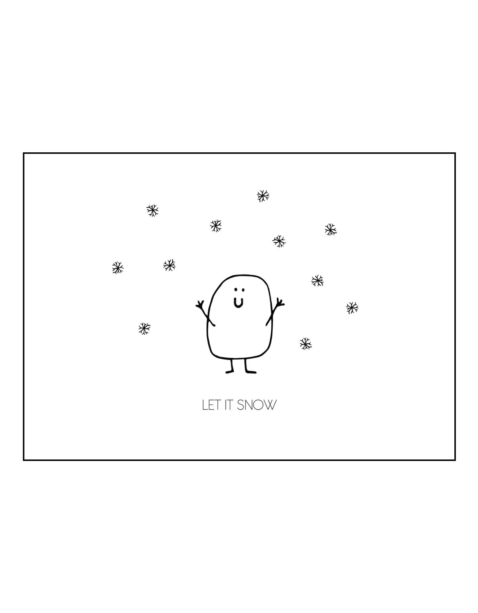 Postkaart Blopje LET IT SNOW