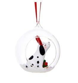 Kerstbal glas hond