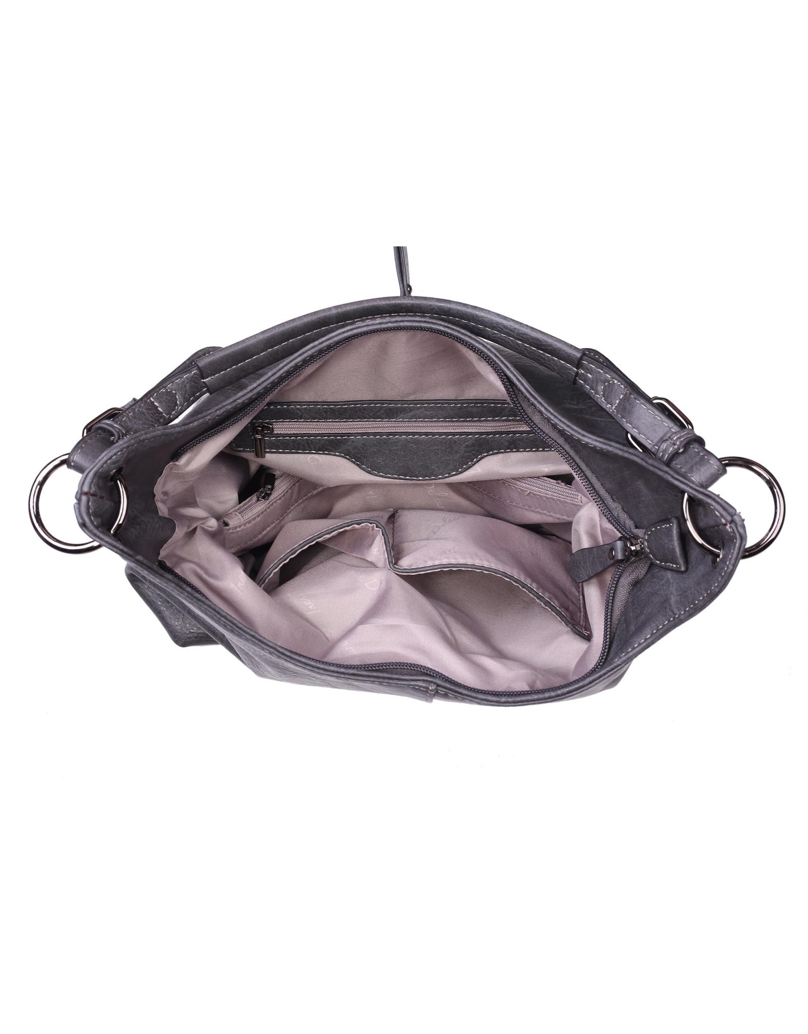 Handtas baggy L grijs