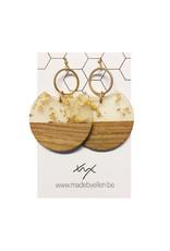 oorbEllen hars&hout goud cirkel