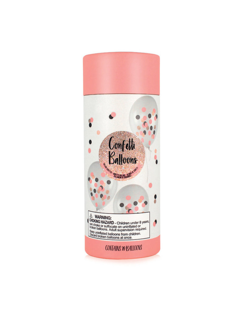 Ballonnen confetti roze 20st