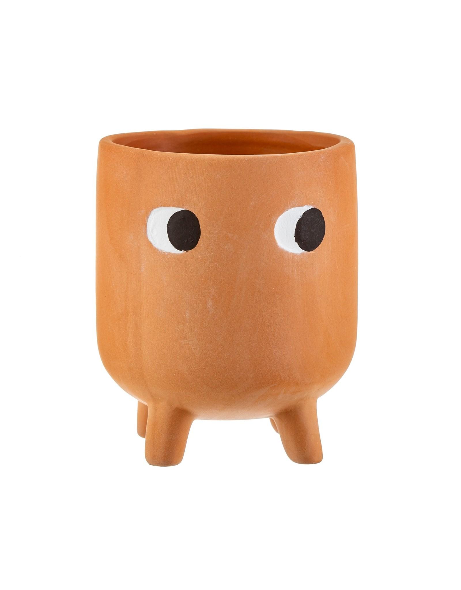 Bloempotje ogen terracotta