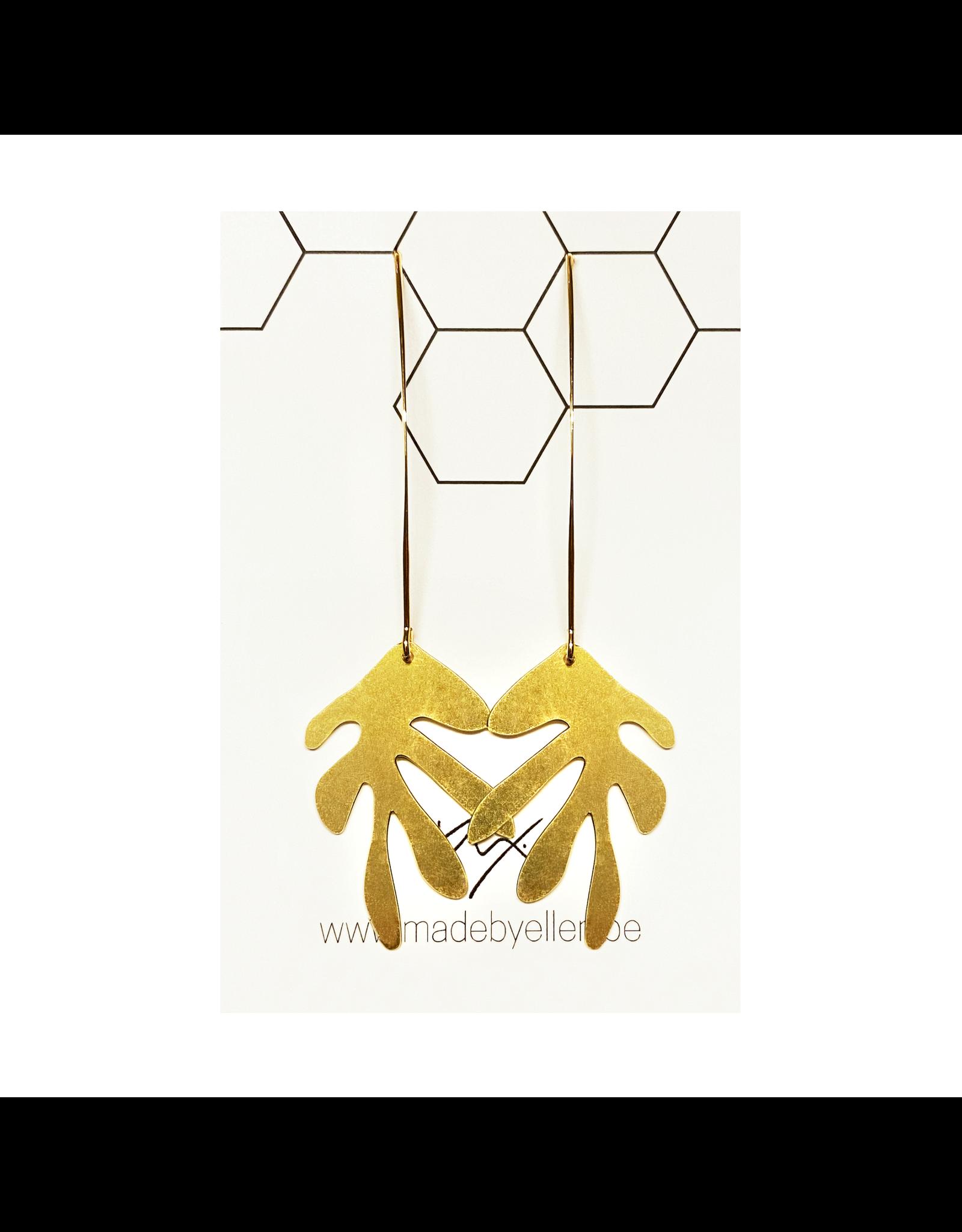 oorbEllen goud blad