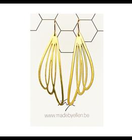 oorbEllen goud bloem