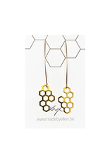 oorbEllen goud honingraat