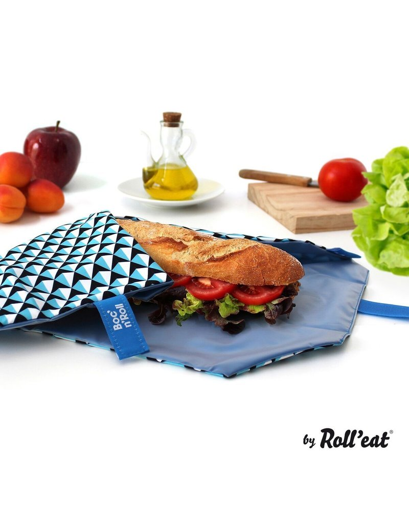 Roll'eat: Boc'n'Roll grafisch blauw