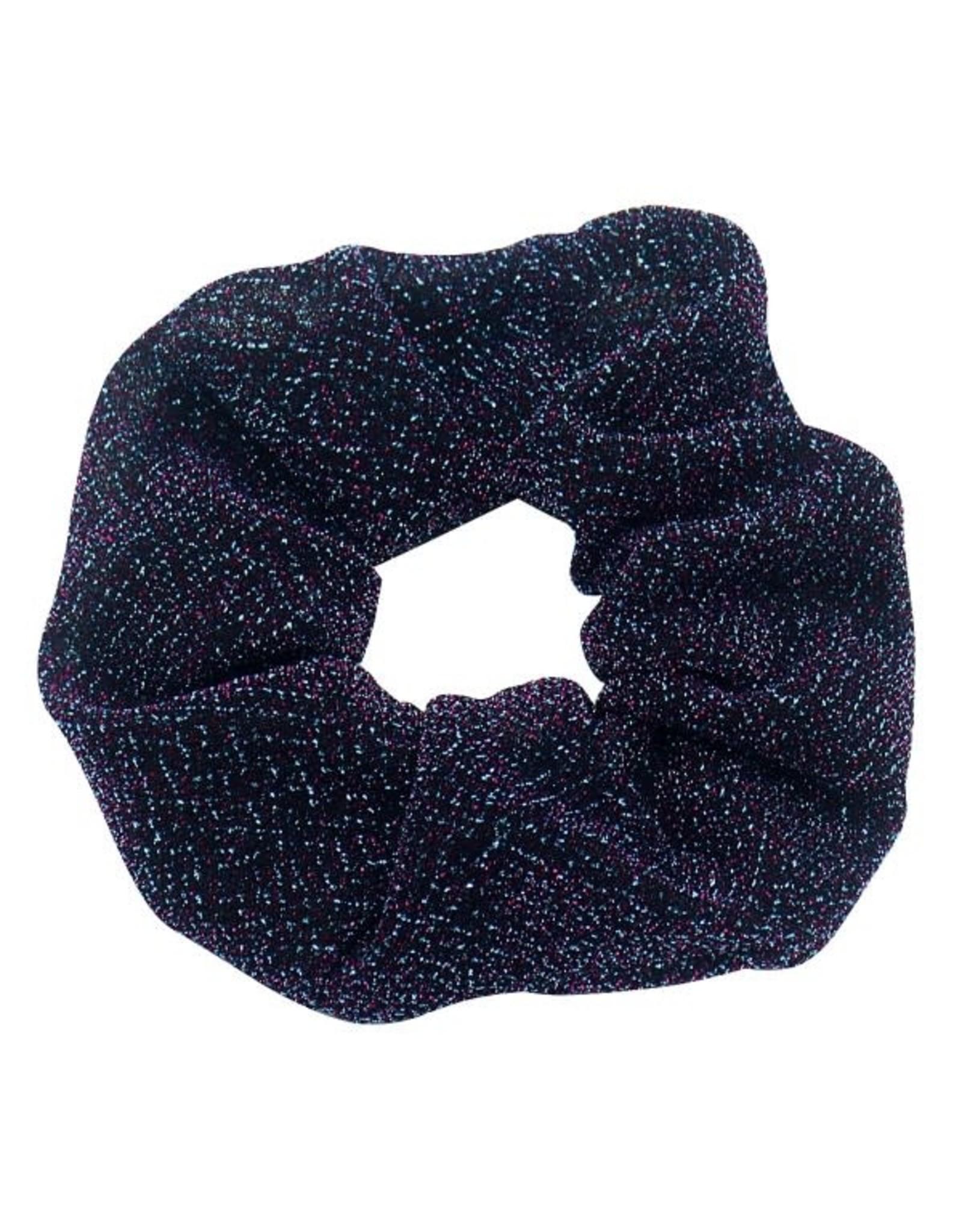 Scrunchie glitter blauw/paars