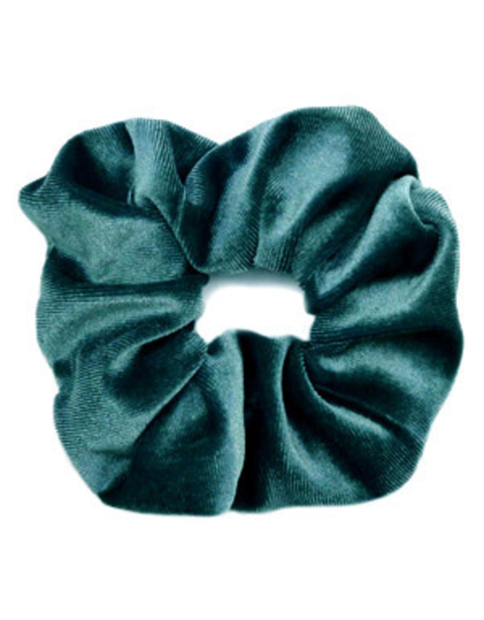 Scrunchie velvet donker turquoise