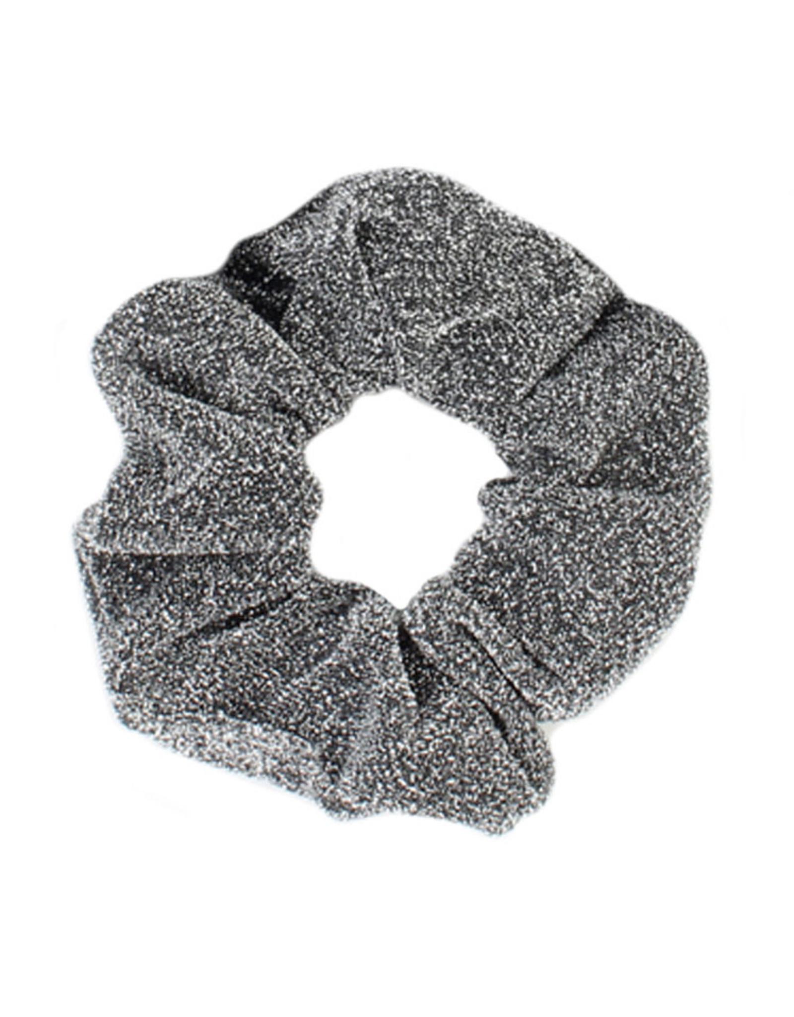 Scrunchie glitter grijs