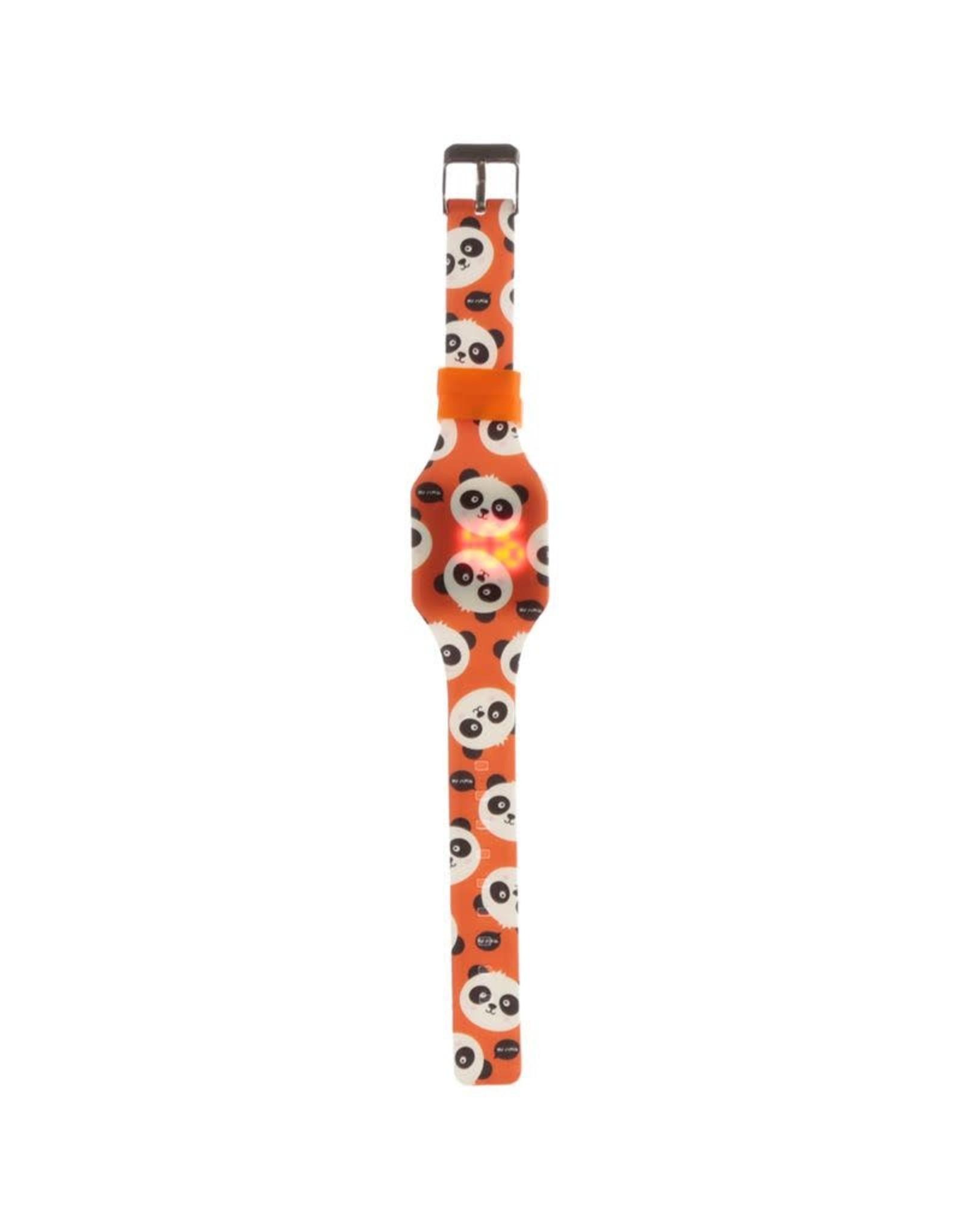 Horloge LED panda oranje