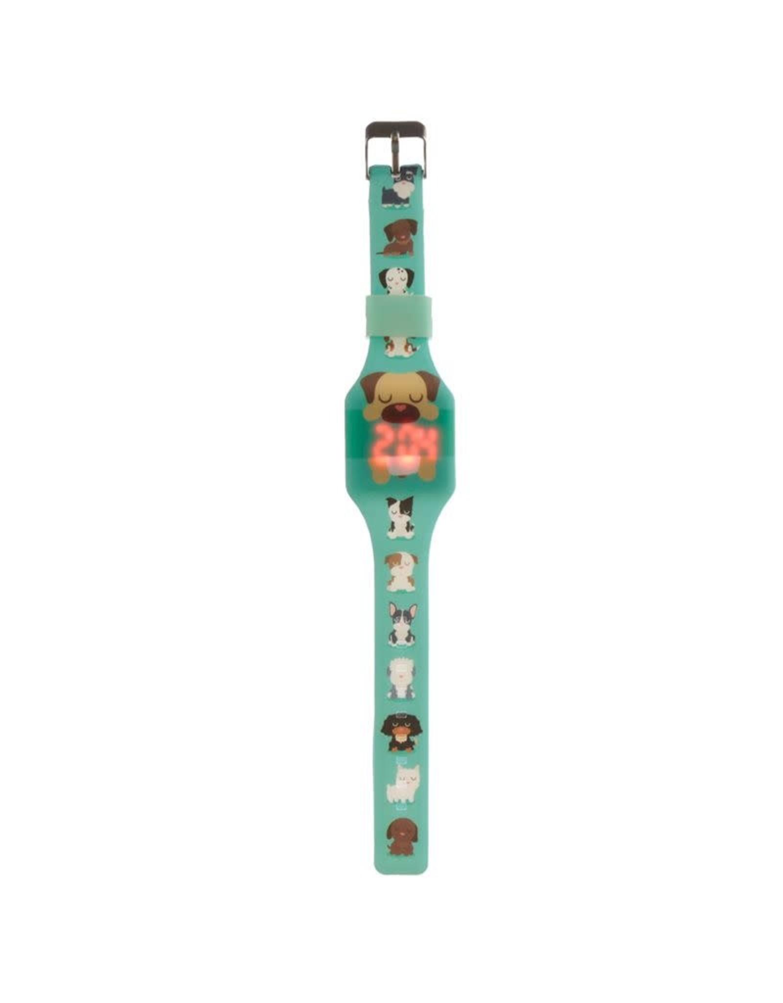 Horloge LED hond groen