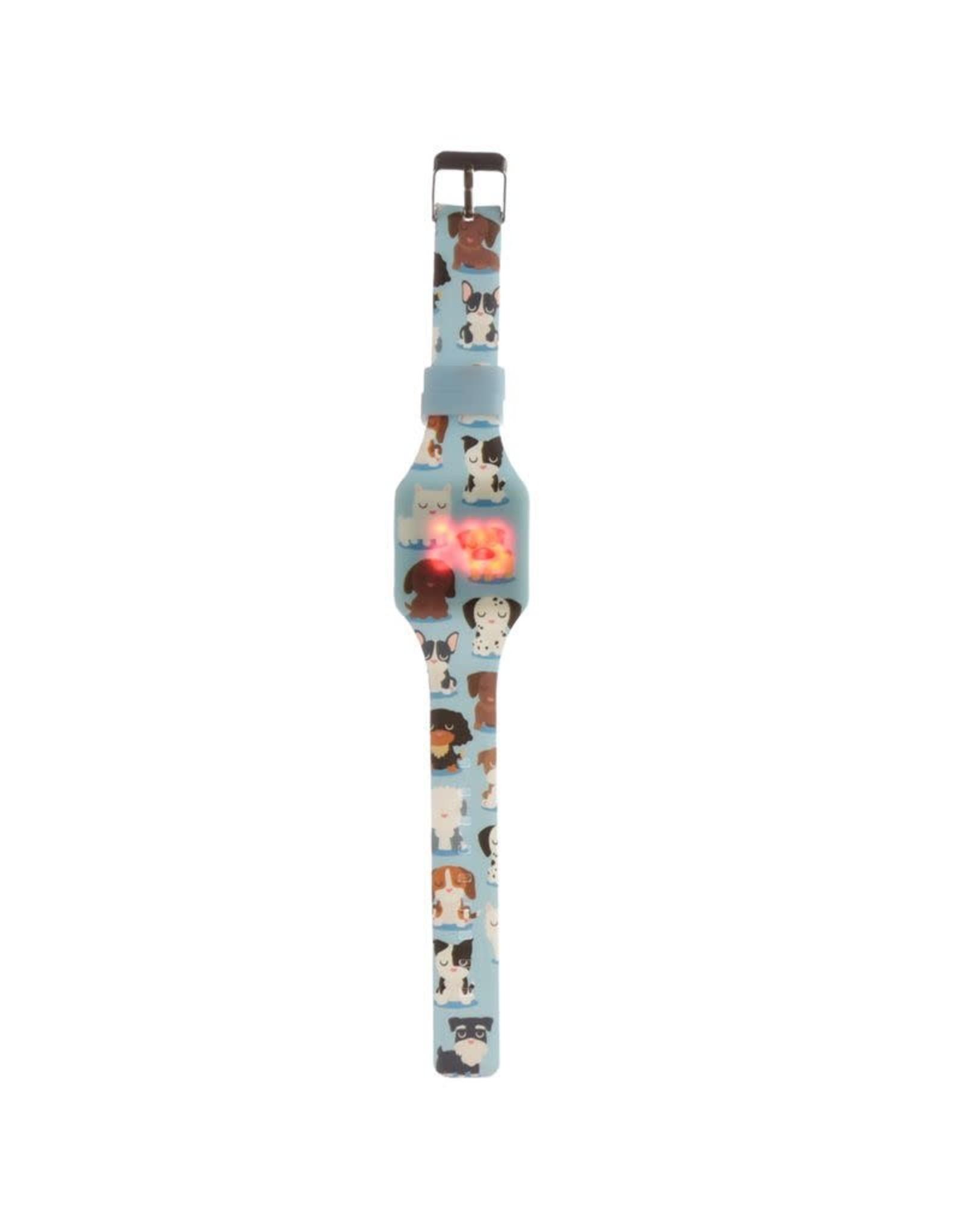 Horloge LED hond blauw