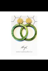 oorbEllen acryl rond groen