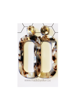 oorbEllen acryl lang beige
