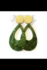 oorbEllen acryl druppel groen