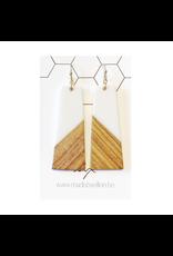 oorbEllen hars&hout trapezium wit
