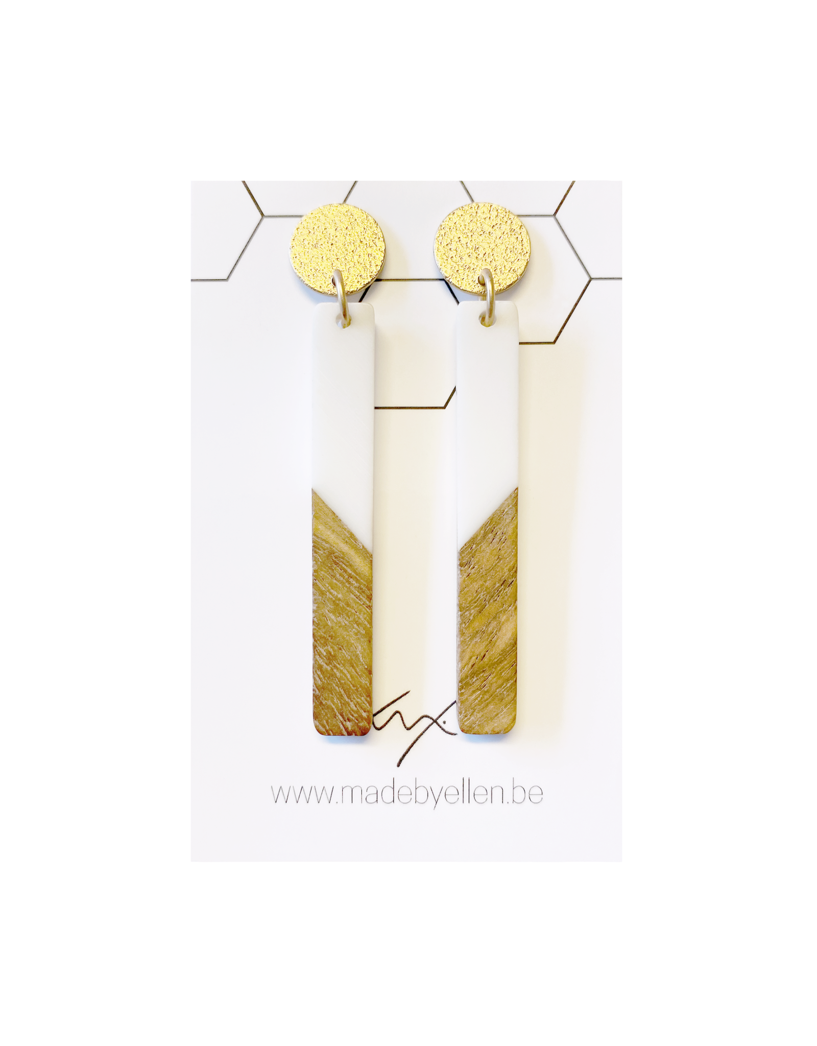 oorbEllen hars&hout staafje wit