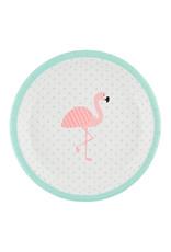 Papieren bordjes flamingo