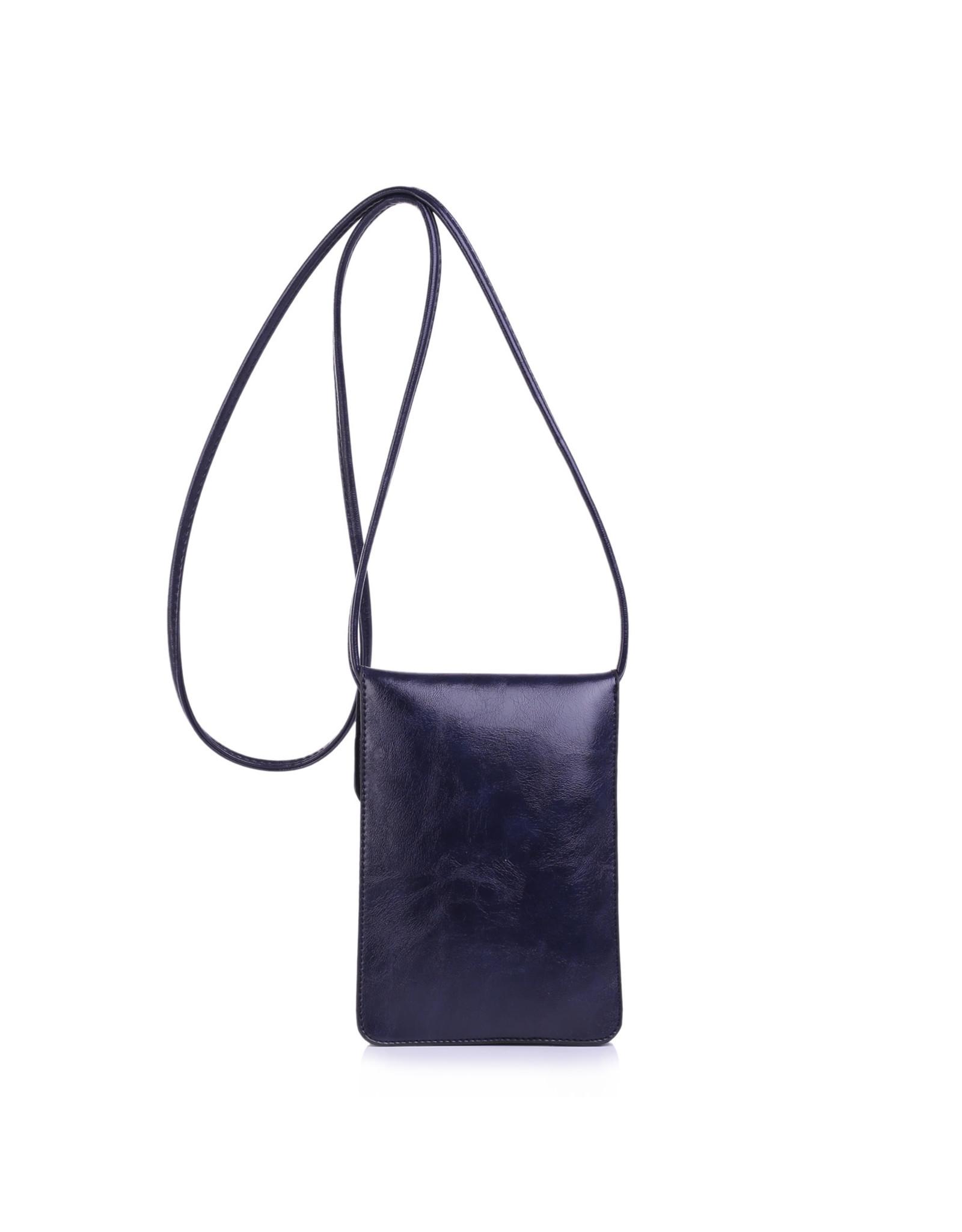 Handtas mini blauw