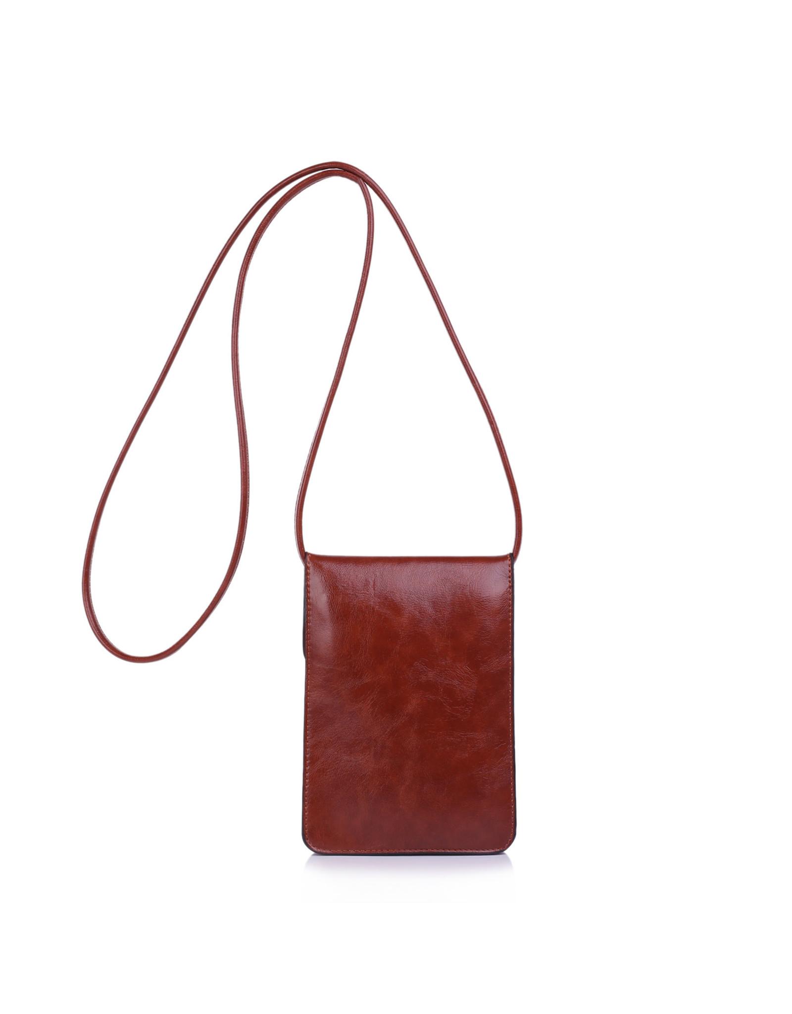 Handtas mini bruin