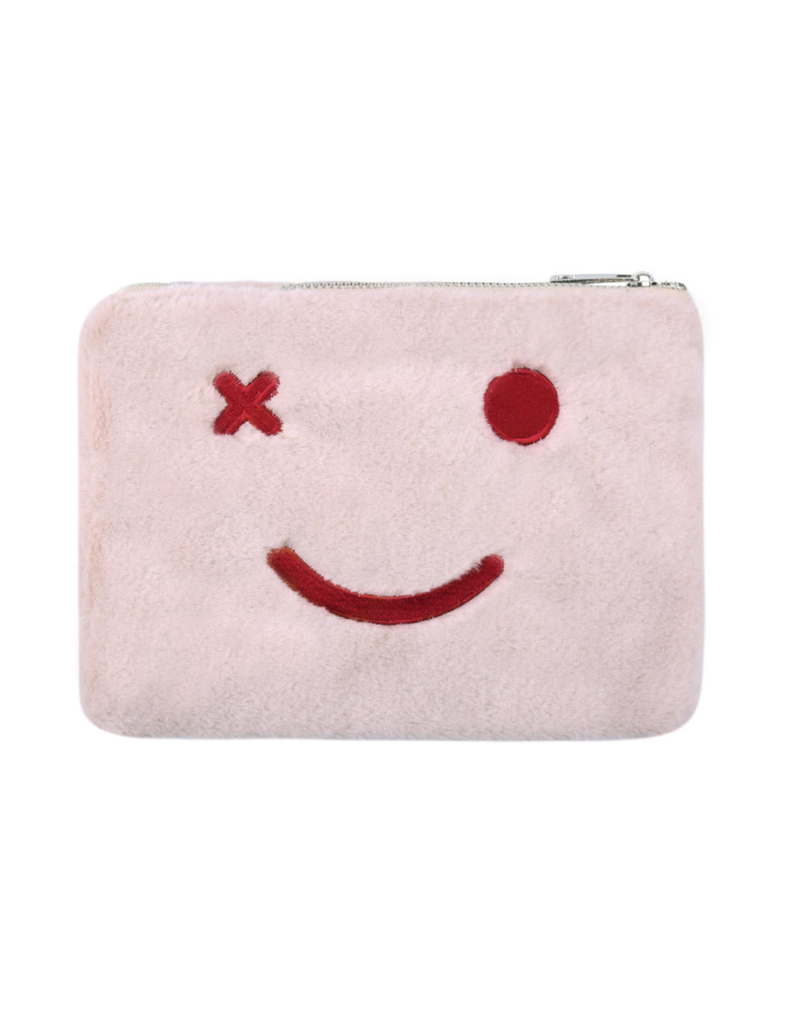 Toiletzakje fluffy smile roze