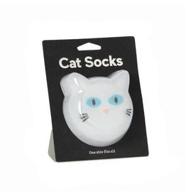 Sokken kat wit
