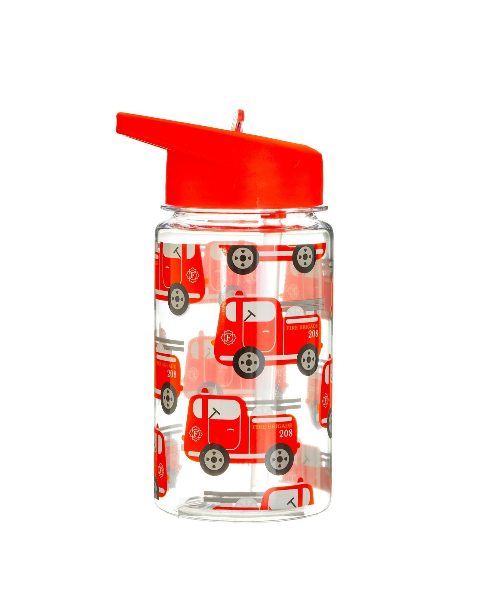 Drinkfles met rietje brandweerwagen